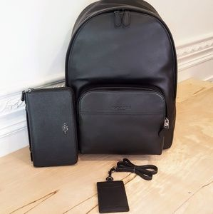 NWT Coach Mens Backpack, Wallet & ID